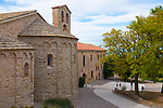 Santa Cecilia Church, a romanesque church that houses the artwork of Irish painter Sean Scully, on the saw-toothed mountain of Monserrat, near Barcelona, Catalonia, the first national park established in Spain.
