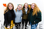 Sarah Lostal Davern, Clara Carroll, Caoimhe Dowling and Caoimhe Doyle attending the Mercy Mounthawk stage production of Big Maggie at Siamsa Tire on Thursday