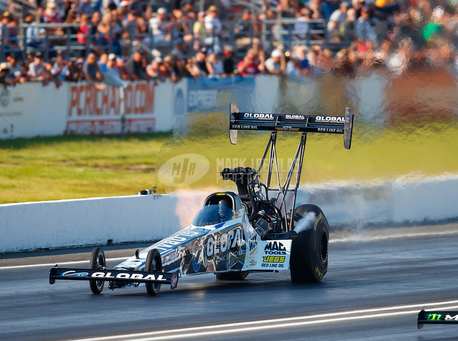 Jun 10, 2017; Englishtown , NJ, USA; NHRA top fuel driver Shawn Langdon during qualifying for the Summernationals at Old Bridge Township Raceway Park. Mandatory Credit: Mark J. Rebilas-USA TODAY Sports