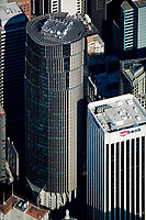 aerial photograph 101 California Street & 100 CA St US Bank San Francisco adjacent office towers