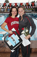 STANFORD, CA - FEBRUARY 13:  Elaine Breeden of the Stanford Cardinal on Senior Day during Stanford's 167-131 win over California at the Avery Aquatic Center on February 13, 2010 in Stanford, California.