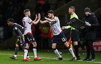 Bolton Wanderers' Craig Noone is substituted for Will Buckley <br /> <br /> Photographer Andrew Kearns/CameraSport<br /> <br /> The EFL Sky Bet Championship - Bolton Wanderers v Sheffield Wednesday - Tuesday 12th March 2019 - University of Bolton Stadium - Bolton<br /> <br /> World Copyright © 2019 CameraSport. All rights reserved. 43 Linden Ave. Countesthorpe. Leicester. England. LE8 5PG - Tel: +44 (0) 116 277 4147 - admin@camerasport.com - www.camerasport.com