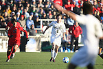 16 December 2007: Wake Forest's Sam Cronin (2) looks to a teammate while being chased by Ohio State's Roger Espinoza (27). The Wake Forest University Demon Deacons defeated the Ohio State Buckeyes 2-1 at SAS Stadium in Cary, North Carolina in the NCAA Division I Mens College Cup championship game.