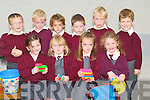 LEGO: Junior Infants on their first day at Kilmoyley National School on Monday playing with their lego sets. Front l-r: Ciara May Heanue, Sophie Griffin, Michaela Harrington and Sarah Walsh. Back l-r: Dara Nolan, Rhys Keane, James Wallace, Eoin O'Connor and Cillian Monahan.