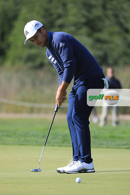 Xander Schauffele (USA) during the second round of the Porsche European Open , Green Eagle Golf Club, Hamburg, Germany. 06/09/2019<br /> Picture: Golffile   Phil Inglis<br /> <br /> <br /> All photo usage must carry mandatory copyright credit (© Golffile   Phil Inglis)