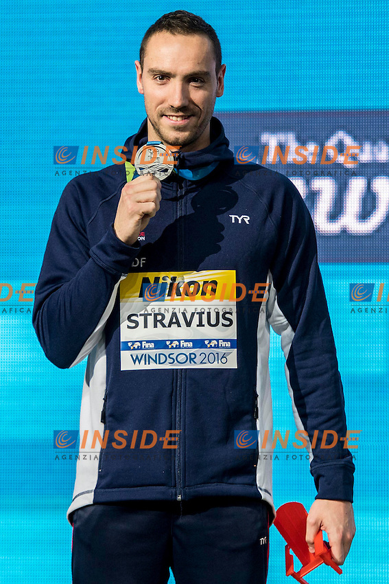 STRAVIUS Jeremy FRA Silver Medal<br /> Men's 50m Backstroke<br /> 13th Fina World Swimming Championships 25m <br /> Windsor  Dec. 9th, 2016 - Day04 Finals<br /> WFCU Centre - Windsor Ontario Canada CAN <br /> 20161209 WFCU Centre - Windsor Ontario Canada CAN <br /> Photo &copy; Giorgio Scala/Deepbluemedia/Insidefoto