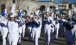 The Carson High Marching Band performs in the 75th annual Nevada Day parade in Carson City, Nev., on Saturday, Oct. 26, 2013.<br /> Photo by Cathleen Allison