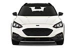 Car photography straight front view of a 2019 Ford Focus Active 5 Door Hatchback Front View