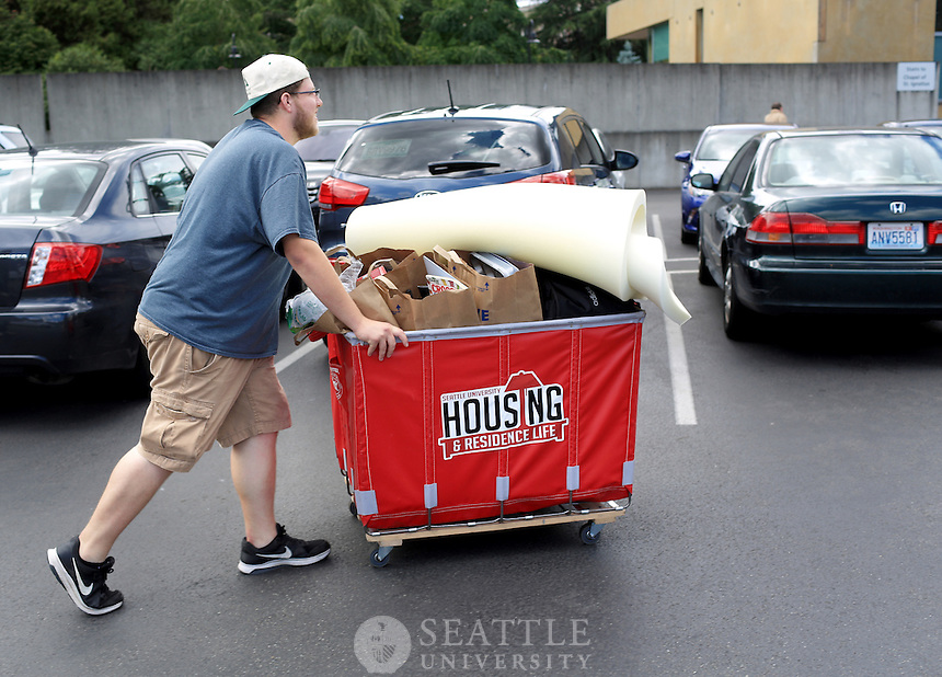 June 10th, 2016-  Move Out<br /> <br /> Nolan Weir, a sophomore environmental studies major at Seattle University moves out of the Xavier dorm. Weir, who is from the Bay Area will be driving home to California with his father.