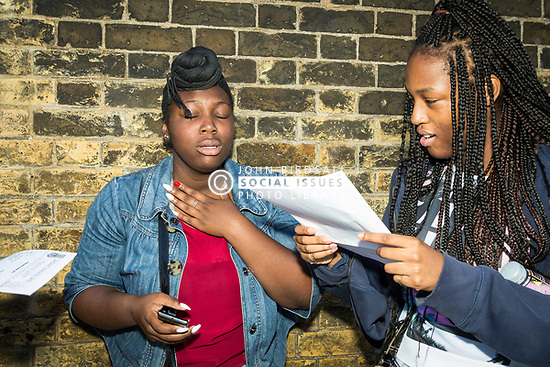 GCSE exam results Gladesmore Community School, Tottenham, North London 2014 UK
