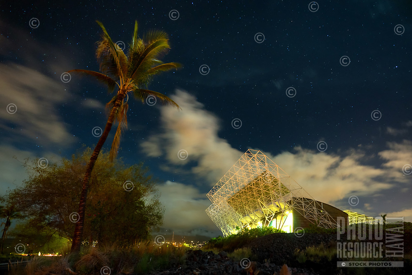 Starry night sky over the National Renewable Energy Laboratory (NREL) at Keahole, Big Island of Hawai'i; NREL is in partnership with the National Energy Laboratory of Hawaii Authority (NELHA) in relation to solar energy data.