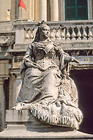 Valletta, Malta.  Queen Victoria Statue in Republic Square.
