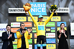 Race leader Luis Leon Sanchez (ESP) Astana Pro Team retains the Yellow Jersey at the end of Stage 4 of the Paris-Nice 2018 an 18km individual time trial running from La Fouillouse to Saint-Etienne, France. 7th March 2018.<br />