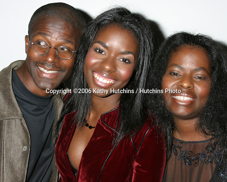 Camille Winbush & her parents.Camille Winbush's Sweet 16th Birthday Party.Marina Del Rey, CA.February 11, 2006.©2006 Kathy Hutchins / Hutchins Photo....