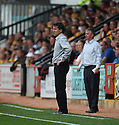 Wrexham manager Dean Saunders (l) and Cambridge manager Martin Ling during the Blue Square Premier match between Cambridge United and Wrexham at the Abbey Stadium, Cambridge on 19th September, 2009..© Kevin Coleman 2009 .