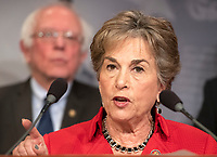 United States Representative Jan Schakowsky (Democrat of Illinois) makes remarks at a press conference in the US Capitol in Washington, DC announcing a Democratic package of three bills to be introduced in the US Senate and US House to control prescription drug prices on Thursday, January 10, 2019.<br /> Credit: Ron Sachs / CNP /MediaPunch
