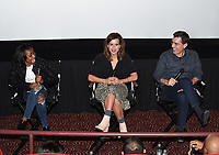 """LOS ANGELES - JANUARY 9: Saniyya Sidney, Executive Producer Liz Heldens, author Justin Cronin attend an advanced screening and Q&A of FOX's """"The Passage"""" at the AMC Century City 15 on January 9, 2019, in Los Angeles, California. (Photo by Frank Micelotta/Fox/PictureGroup)"""