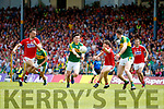 Paul Murphy Kerry  in action against Kevin Crowley Cork in the Munster Senior Football Final at Fitzgerald Stadium on Sunday.