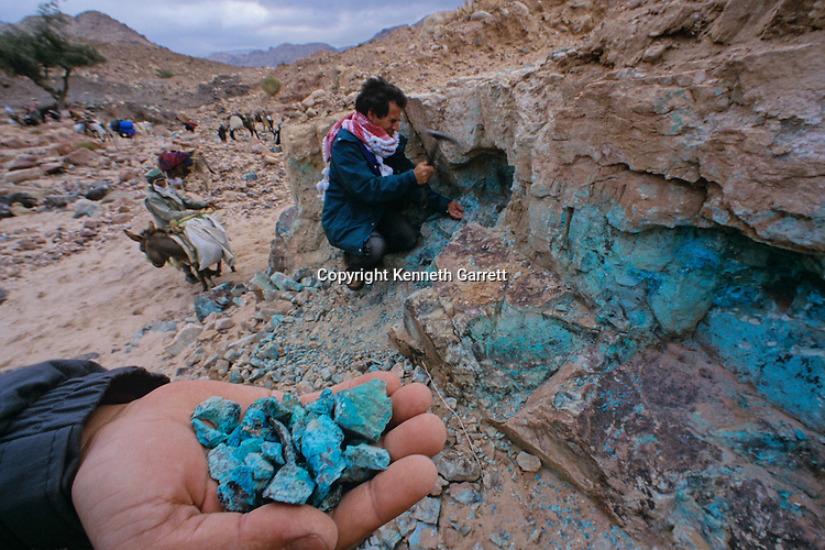 Copper ore, Wadi Faynan,western Jordan, Copper Age site, mining, natural resources