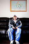Roberto Barajas poses for a portrait in his apartment in East Point, Georgia December 30, 2009. Mr. Barajas and his wife Monica have been separated because she had to return to Mexico to continue dialysis after Grady Hospital would no longer treat her.