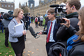 Chelmsford MP Vicky Ford interviewed by BBC political editor Nick Watt, College Green, Westminster, London, on the day of four ministerial resignations over Brexit deal.