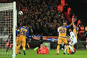 6th December 2017, Wembley Stadium, London England; UEFA Champions League football, Tottenham Hotspur versus Apoel Nicosia; Danny Rose of Tottenham Hotspur hits the bar