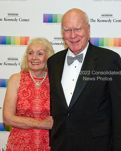 United States Senator Patrick Leahy and his wife, Marcelle, arrive for the formal Artist's Dinner honoring the recipients of the 39th Annual Kennedy Center Honors hosted by United States Secretary of State John F. Kerry at the U.S. Department of State in Washington, D.C. on Saturday, December 3, 2016. The 2016 honorees are: Argentine pianist Martha Argerich; rock band the Eagles; screen and stage actor Al Pacino; gospel and blues singer Mavis Staples; and musician James Taylor.<br /> Credit: Ron Sachs / Pool via CNP