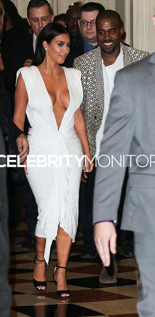LAS VEGAS, NV, USA - OCTOBER 25: Kim Kardashian West, Kanye West arrive at Kim Kardashian West's 34th Birthday Celebration held at TAO Nightclub at The Venetian Las Vegas on October 25, 2014 in Las Vegas, Nevada, United States. (Photo by Xavier Collin/Celebrity Monitor)