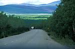 Highway No 2 & Camper Van, Yukon Territories, Canada