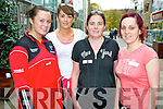 Pictured at the Michelle O'Connor memorial walk in aid of Cystic Fibrosis in Killarney on Sunday were Aoife Mullins, Noreen Lenihan, Geraldine O'Sullivan and Deirdre Lyne.