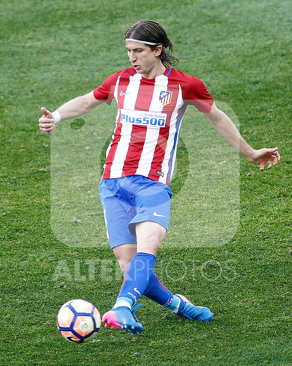 Atletico de Madrid's Filipe Luis during La Liga match. March 19,2017. (ALTERPHOTOS/Acero)
