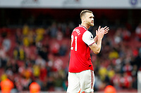 Calum Chambers of Arsenal during the Premier League match between Arsenal and Aston Villa at the Emirates Stadium, London, England on 22 September 2019. Photo by Carlton Myrie / PRiME Media Images.