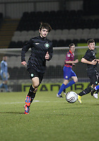 Bahrudin Atajic in the St Mirren v Celtic Clydesdale Bank Scottish Premier League U20 match played at St Mirren Park, Paisley on 18.12.12.