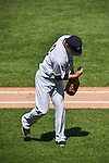 Masahiro Tanaka (Yankees), SEPTEMBER 13, 2015 - MLB : Masahiro Tanaka of the New York Yankees checks his pitching form as he walks back to the dugout after the top of the second inning during the Major League Baseball game against the Toronto Blue Jays at Yankee Stadium in the Bronx, New York, United States. (Photo by Hiroaki Yamaguchi/AFLO)