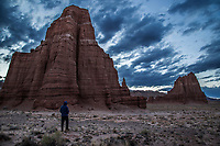 The Temple Of The Moon and The Temple of the Sun at Capitol Reef National Park's Cathedral Valley