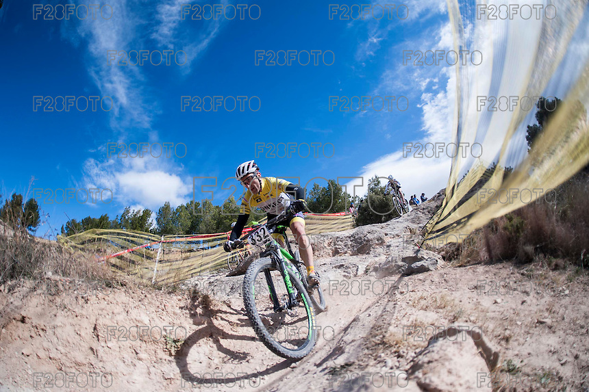 Chelva, SPAIN - MARCH 6: Antonio Miro during Spanish Open BTT XCO on March 6, 2016 in Chelva, Spain