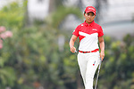 Riri Sadoyama (JPN), <br /> AUGUST 23, 2018 - Golf : <br /> Women's Individual Round 1 <br /> at Pondok Indah Golf & Country Club <br /> during the 2018 Jakarta Palembang Asian Games <br /> in Jakarta, Indonesia. <br /> (Photo by Naoki Morita/AFLO SPORT)