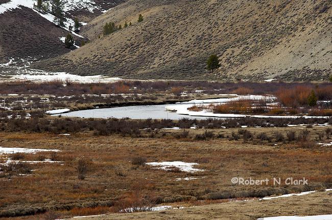 Valley Creek near Stanley, Idaho in the winter