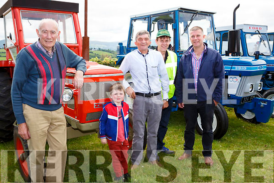 Dan rahilly and Paudie Sheehan Knocknagree, JJ Keane, Denis and Ross O'Callaghan Kiskeam at the Cullen Vintage Rally and Trashing on Sunday