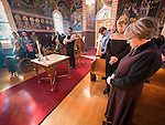 Marin, daughter of Sargon and Rebecca, baptism, St. Sava Church, by Fr. Stephen Tumbas, December 14, 2014.