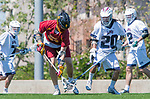 Los Angeles, CA 04/01/16 - Jake Corrigan (USC #31) and Ren-Taylor Chang (Loyola Marymount #20) in action during the University of Southern California and Loyola Marymount University SLC conference game  USC defeated LMU.