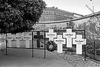 - Berlin, memorial for the people dead in the attempt to leave the German Democratic Republic crossing the Wall ....- Berlino, memoriale per i morti nel tentativo di abbandonare la Repubblica Democratica Tedesca scavalcando il Muro