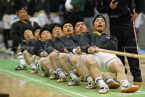 kanazawa FD Rescue team group, MARCH 6, 2011 - Tug of War sport : .2011 All Japan Tug of War sport Championship Men's light middle weight (-600kg) at Komazawa Gymnasium, Tokyo, Japan. (Photo by YUTAKA/AFLO SPORT) [1040]