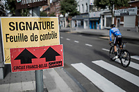 pre race sign in. <br /> <br /> 78th Euro Metropole Tour 2018<br /> La Louvi&egrave;re &ndash; Tournai (BEL): 206km