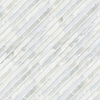 Corduroy, a hand-cut stone mosaic, shown in Venetian honed Calacatta and Shell , is part of the Tissé™ collection for New Ravenna.