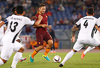 Calcio, Europa League: Roma vs Astra Giurgiu. Roma, stadio Olimpico, 29 settembre 2016.<br /> Roma&rsquo;s Francesco Totti in action during the Europa League Group E soccer match between Roma and Astra Giurgiu at Rome's Olympic stadium, 29 September 2016. Roma won 4-0.<br /> UPDATE IMAGES PRESS/Riccardo De Luca