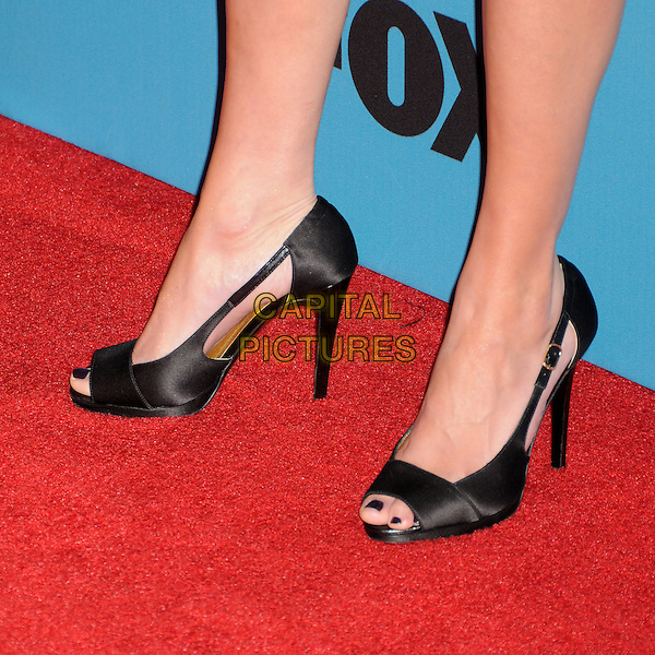 "JESSALYN GILSIG's shoes .Fox's ""Glee"" Spring Premiere Soiree held at Bar Marmont, West Hollywood, California, USA, .12th April 2010..feet shoes black peep toe cut out sides .CAP/ADM/BP.©Byron Purvis/AdMedia/Capital Pictures."