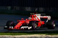 March 26, 2017: Kimi Raikkonen (FIN) #7 from the Scuderia Ferrari team rounds turn three at the 2017 Australian Formula One Grand Prix at Albert Park, Melbourne, Australia. Photo Sydney Low