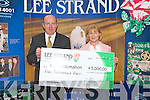 LEE STRAND WINNER: Marie McMahon, Manor Drive, Manor Village May's winner of the Lee Strand EUR5,000 with her family being prenented with her cheque by Jerry Dwyer (Production Manger) on Friday morning l-r: Emily Murphy, Sinead McMahon, Nora Murphy, Marie McMahon, Jerry Dwyer (Production Manger) and Nuala O'Brien..