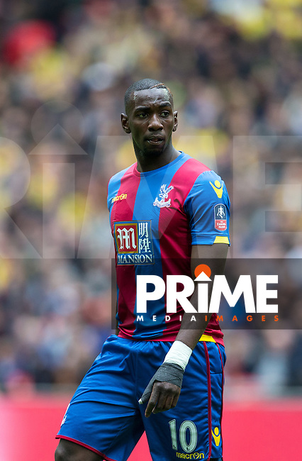 Yannick Bolasie of Crystal Palace during the FA Cup Semi Final match between Crystal Palace and Watford at Wembley Stadium, London, England on 24 April 2016. Photo by Andy Rowland.
